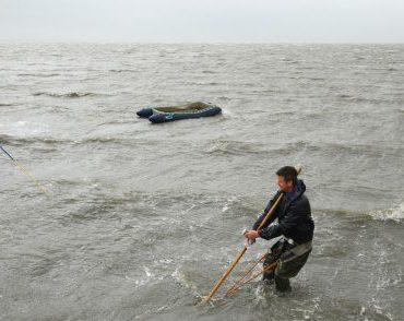 Kokkelvisserij in Werelderfgoed Waddenzee. FOTO: Rienk Nadema