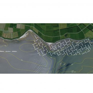 Lijnenspel Kwelder Terschelling in Waddenzee