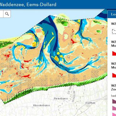 Ecotopenkaart van Werelderfgoed Waddenzee