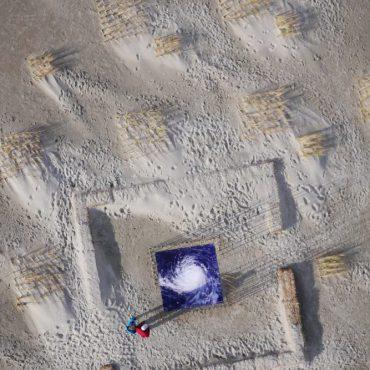 Luchtfoto van WindWerk op Terschelling FOTO: Gerrit Bart Volgers