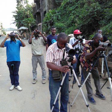 Flywaytelling in Kameroen. Jaap van der Waarde Wereld Natuur Fonds