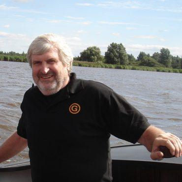 Jan Beekman aan het roer