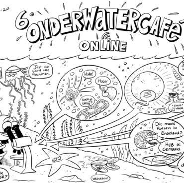 deel van cartoon onderwatercafé 21-10-2020