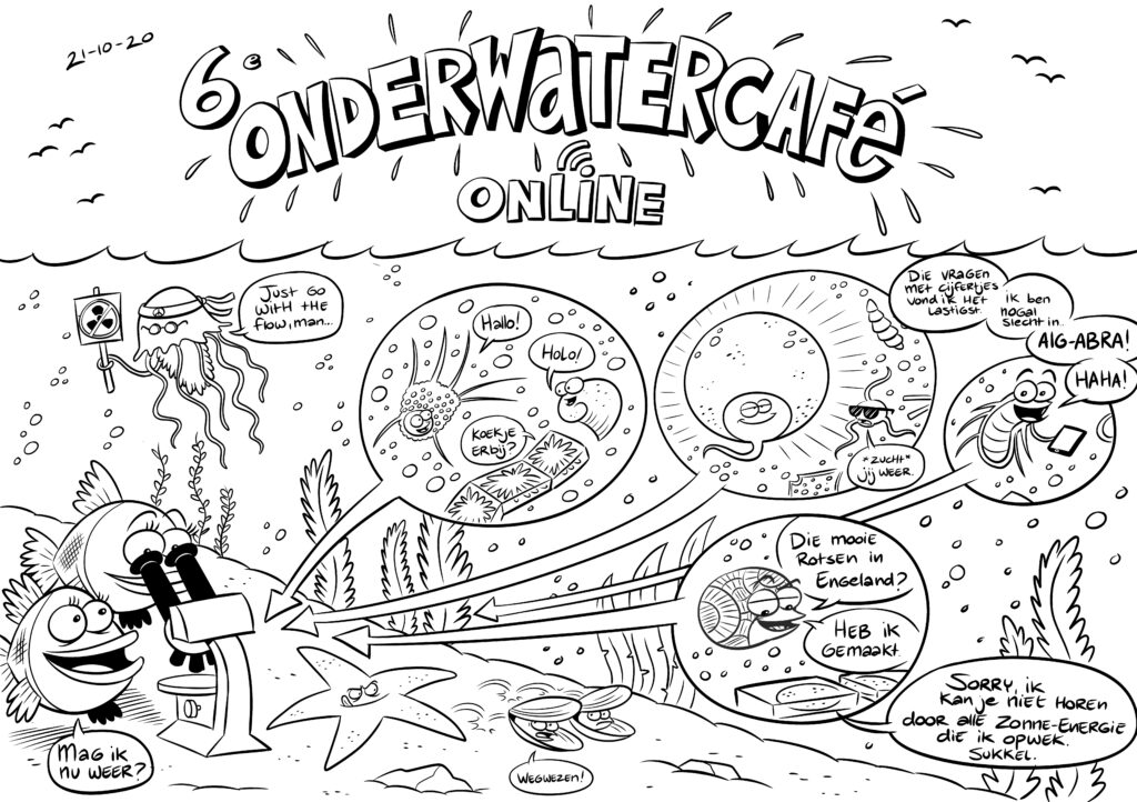 Cartoon Onderwatercafe Planton en het ecosysteem