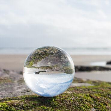 Crystal ball at the beach