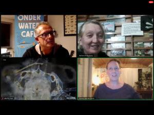 sprekers onderwatercafé Planton en ecosysteem