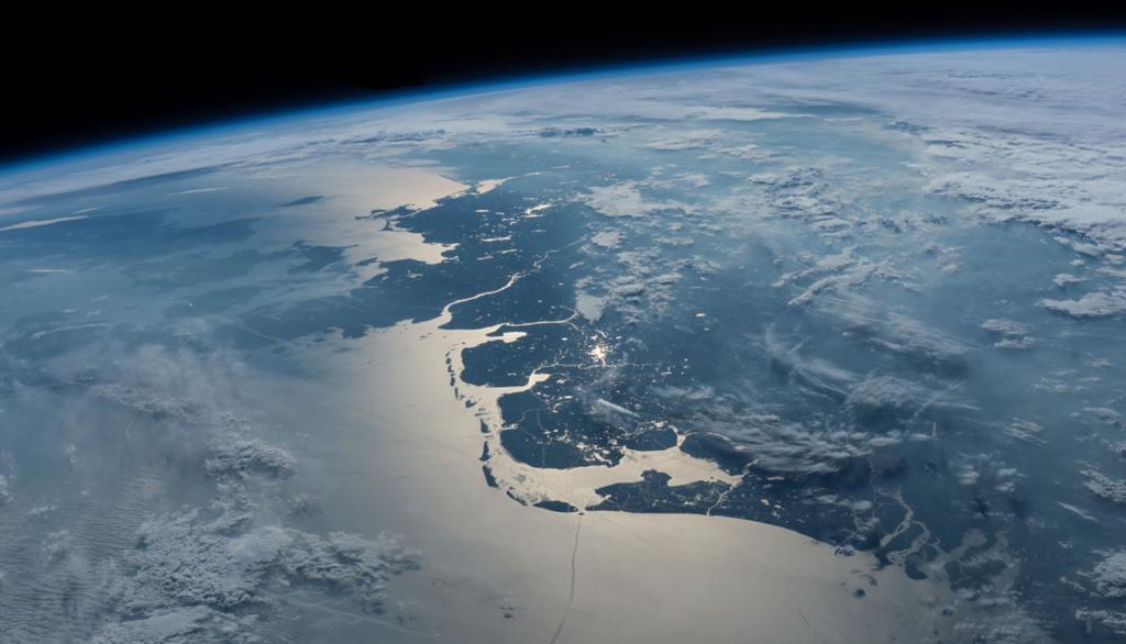 satellietfoto Waddenkust Jeffrey Williams NASA