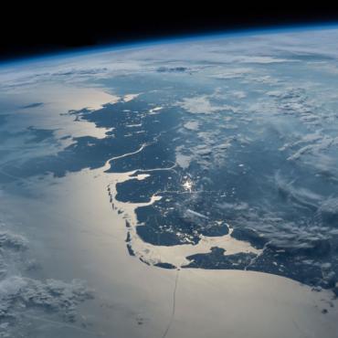 satellite photo Wadden coast Jeffrey Williams NASA